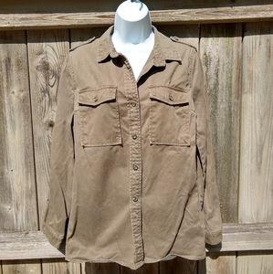 F21 Vintage Army Shacket 100% Cotton Sz S